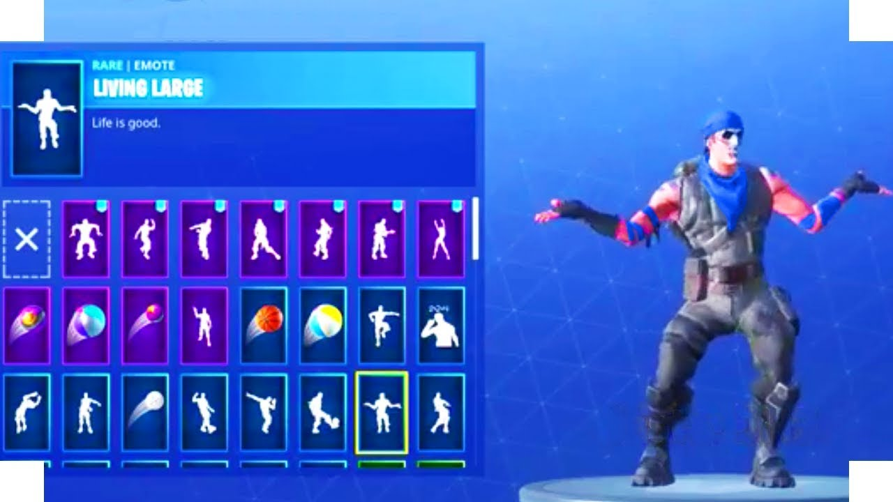new dance emotes leaked fortnite battle royale - living large emote fortnite