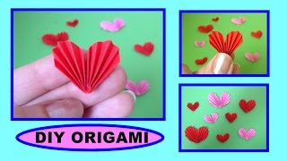 DIY ORIGAMI MINIATUR HEART, QUICK & EASY GIFTS, SIMPLE GUIDE, mini HERZ GESCHENK - IDEEN EINFACH