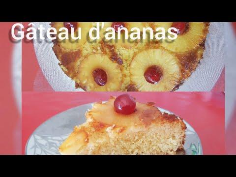recette-:-gâteau-à-l'ananas