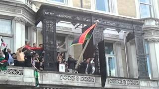 Libyan Independence Flag Replaces Gaddafi Flag In London Embassy