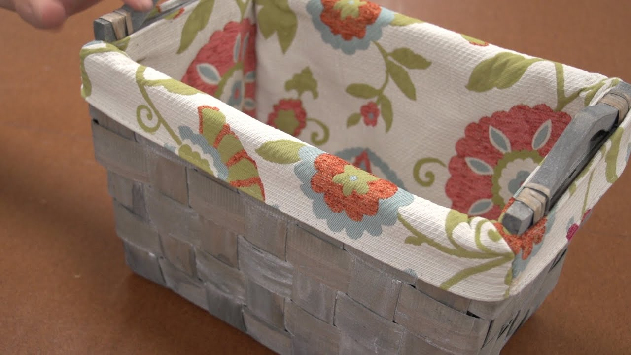 How to make a basket liner youtube jeuxipadfo Choice Image