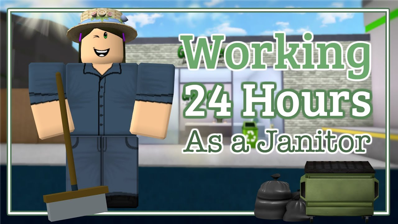 I Spent 24 Hours In Someones House Roblox Bloxburg Youtube - Bloxburg Working 24 Hours As A Janitor In Game Youtube