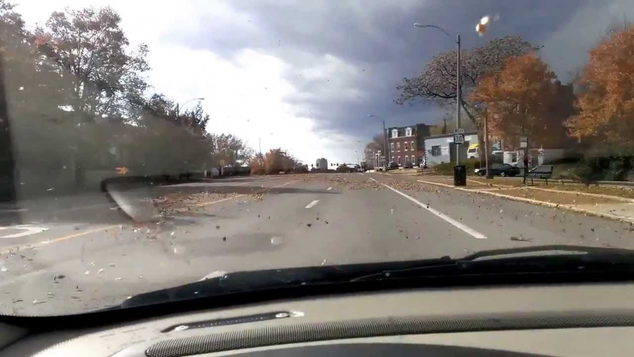11/18/2013 -- Driving in St. Louis, Missouri -- Strong storms with Damaging Winds
