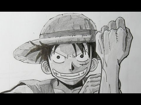 Como dibujar a luffy de one piece paso a paso youtube for One piece dibujos