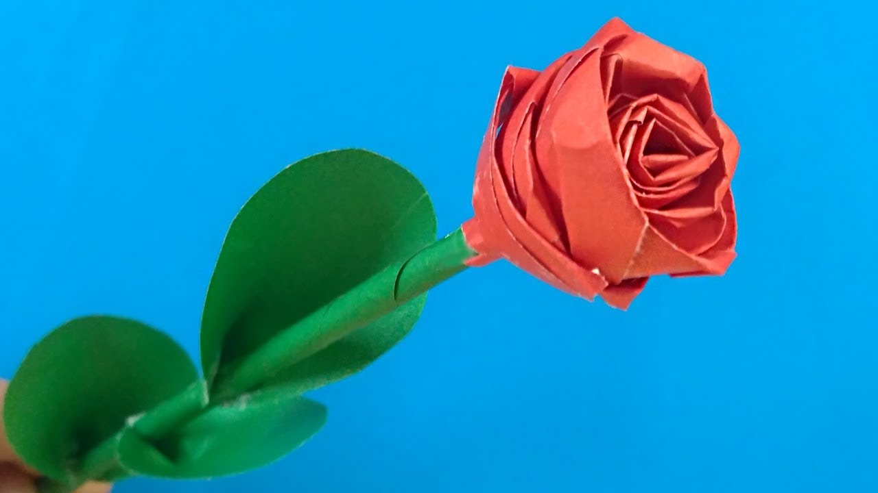 how to make a rose out of paper youtube