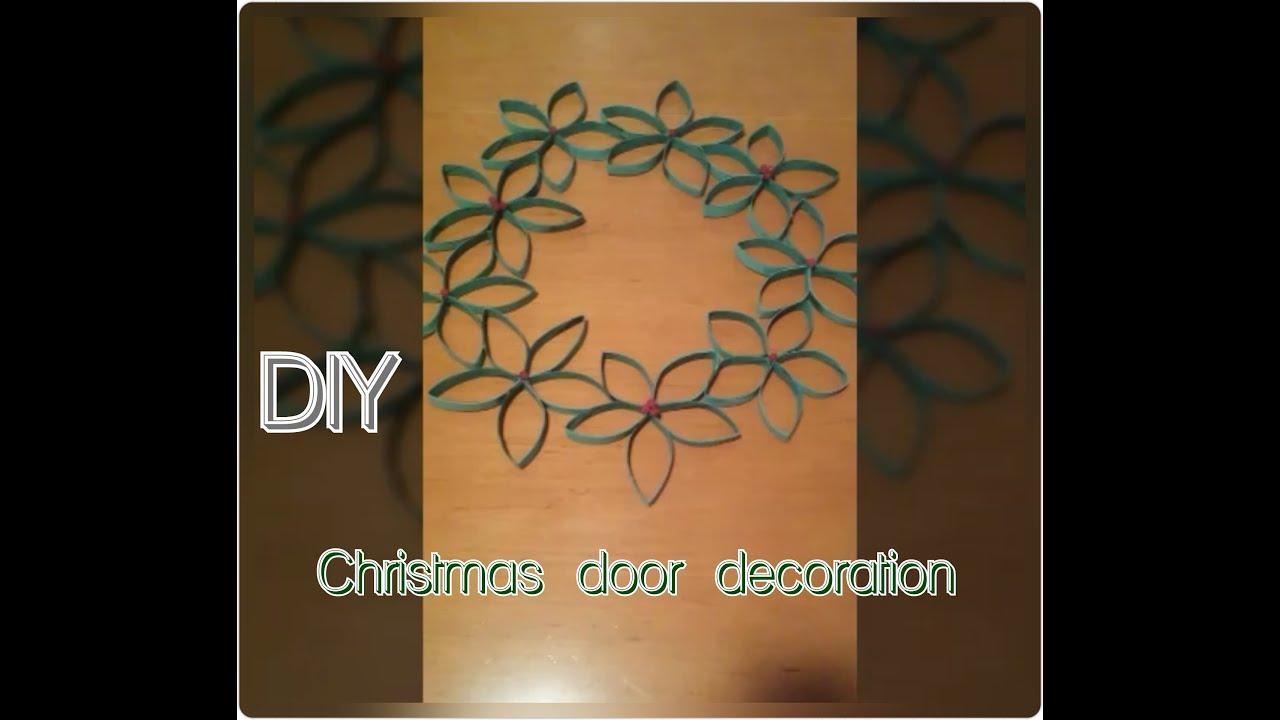 Christmas door decoration DIY paper craft tutorial / uradi ...