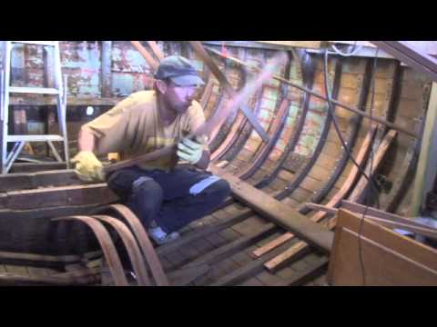 Wooden Boat Repair- Steam Bending Timber 3