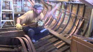 Wooden Boat Repair- Steam Bending Timber 3