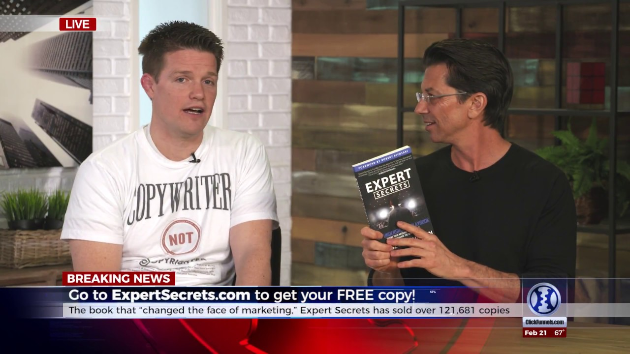 Dean Graziosi talks with Russell Brunson about his book Expert Secrets