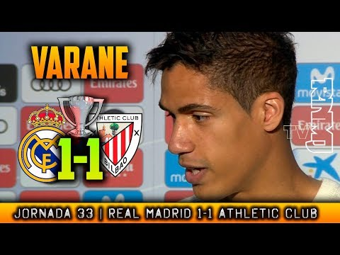 VARANE ZONA MIXTA post ATHLETIC 1-1 REAL MADRID (18/04/2018) | LIGA JORNADA 33
