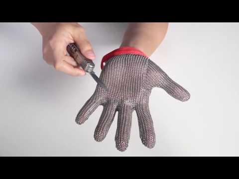 Thumbnail: Stainless Steel Mesh Knife Cut Resistant ChainMail Protective Glove