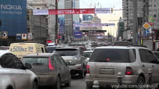 Moscow Traffic Jam,  New Arbat Ave. / Пробка, Но́вый Арба́т (1080p)