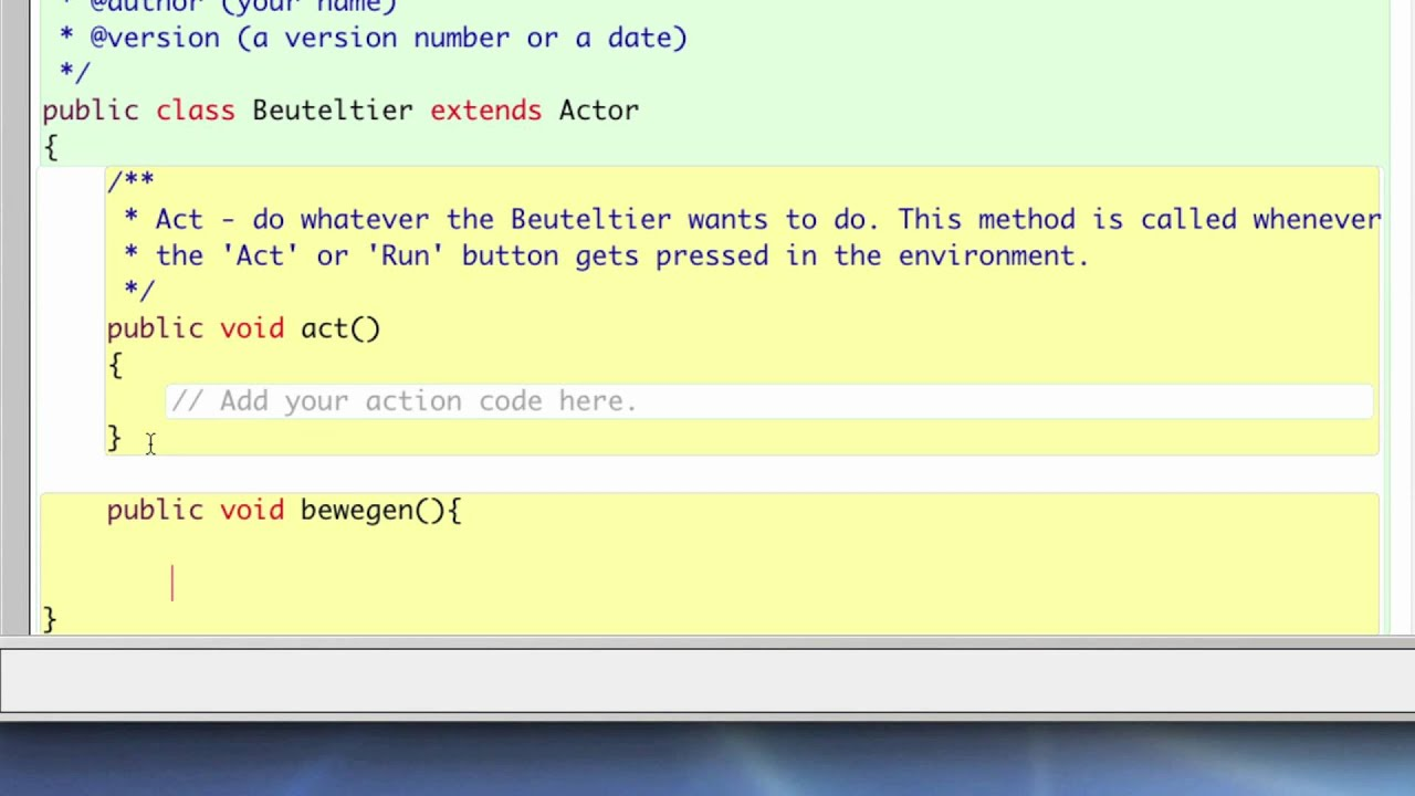Greenfoot Java Tutorial 1 - Wir stellen uns vor - Full HD