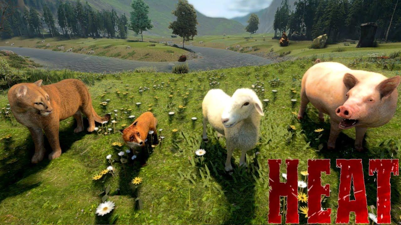 HEAT - Animals Guide (Behavior, Hunting, Taming, Mounts, Foods...)