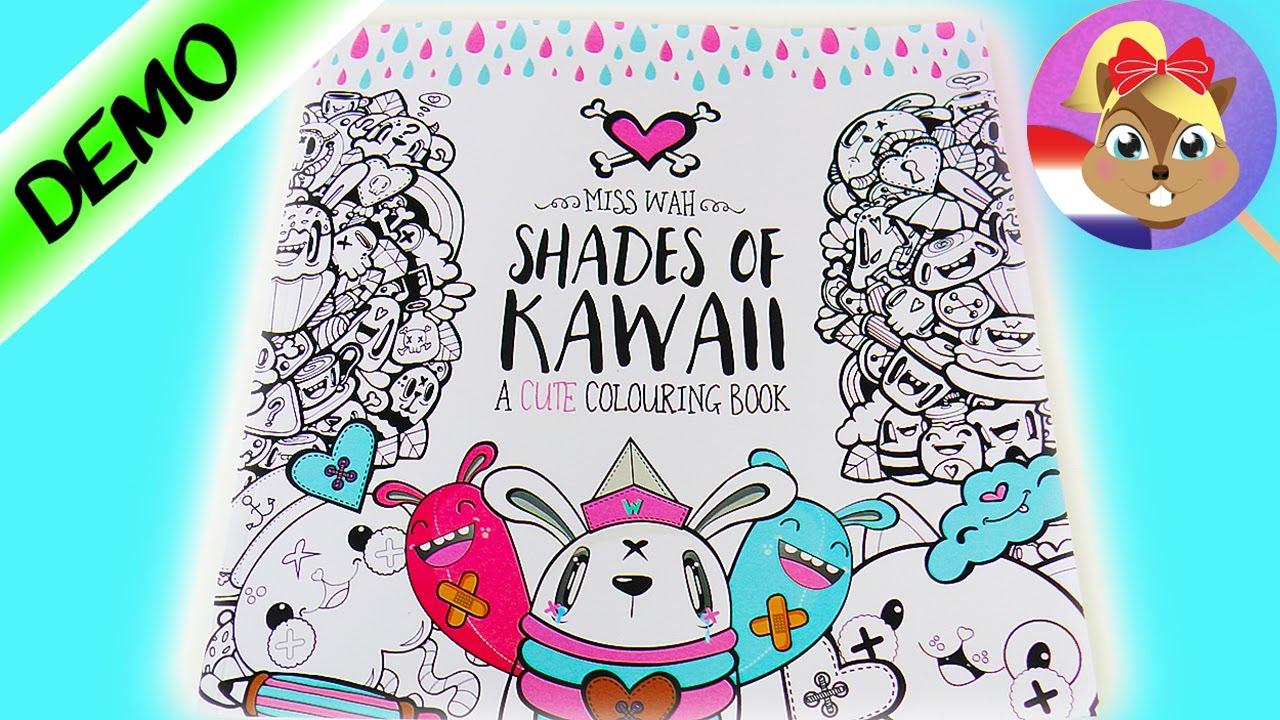 Kleurplaten Topmodelen.Kawaii Kleurboek Schattig Shades Of Kawaii Kleurboek Met Vele