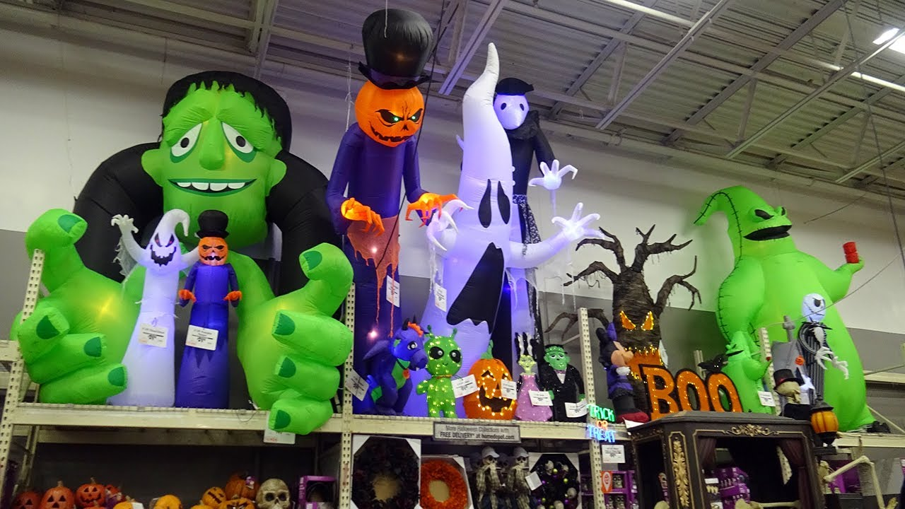 New 2020 Home Depot Halloween Inflatables and Decorations! Holiday Store Walkthrough Tour
