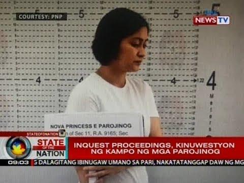 SONA: Ozamiz City Vice Mayor Nova Parojinog at kapatid niyang si Reynaldo Jr., na-inquest na