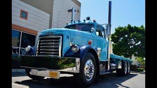 SOLD: 1951 GMC 950 Tractor w/1943 Weber Hay Hauler Trailer CA