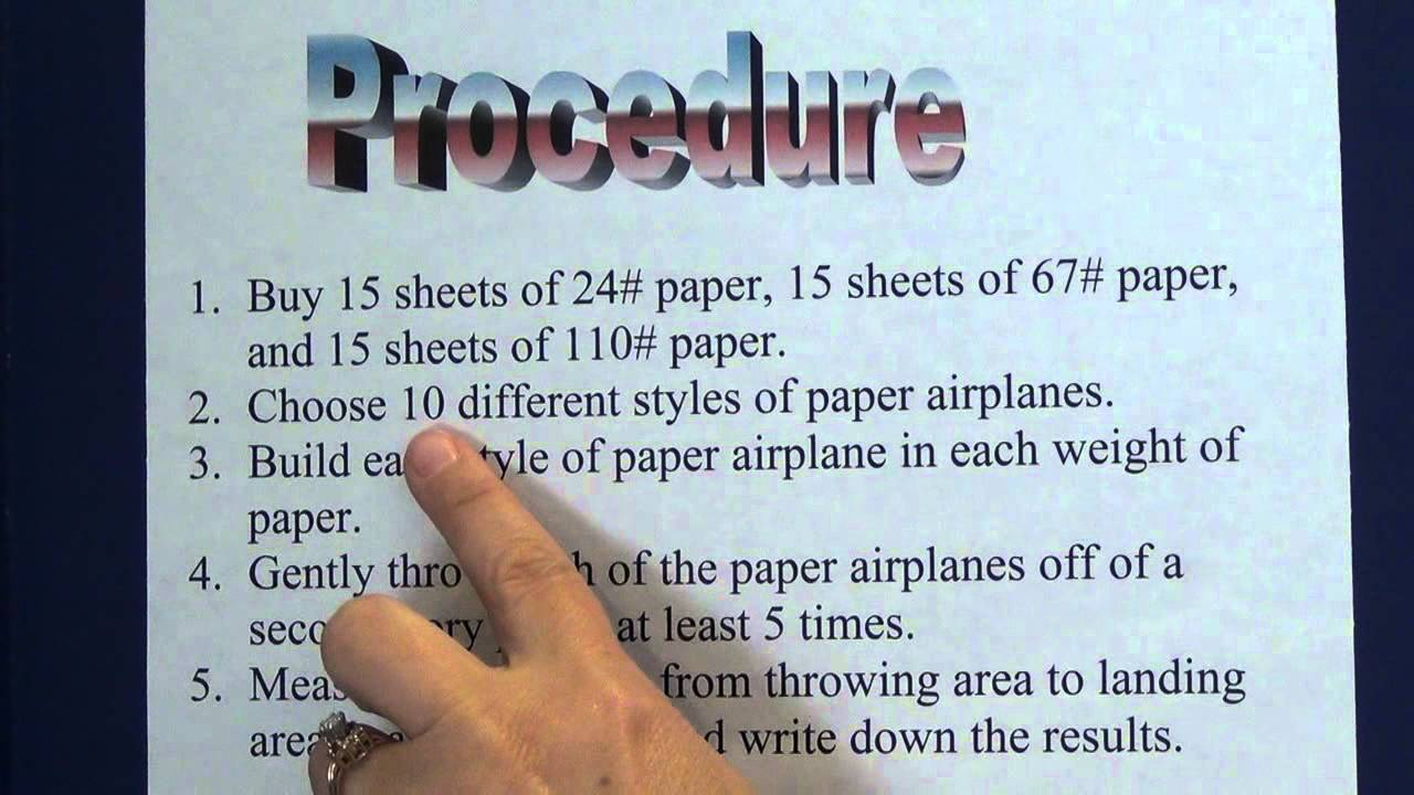 hight resolution of Science Project - 4. Write a Procedure - YouTube