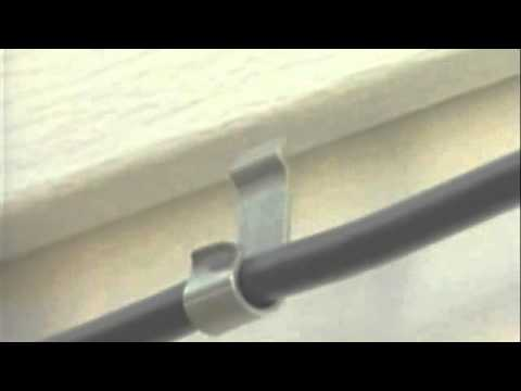 Ez Cable Siding Clip Install Youtube
