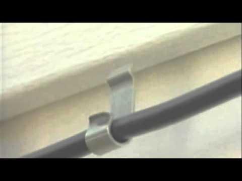 EZ Cable Siding Clip Install - YouTube