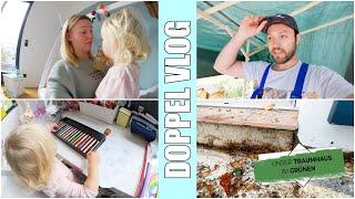 Feuchte Wände am Haus 😪 Balkon Abriss | Alleine mit den Kindern | Folge 18 | Isabeau