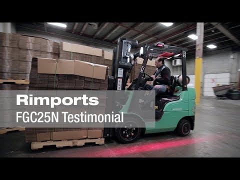 Customer Testimonial for Mitsubishi Forklift Trucks: Rimports, Inc