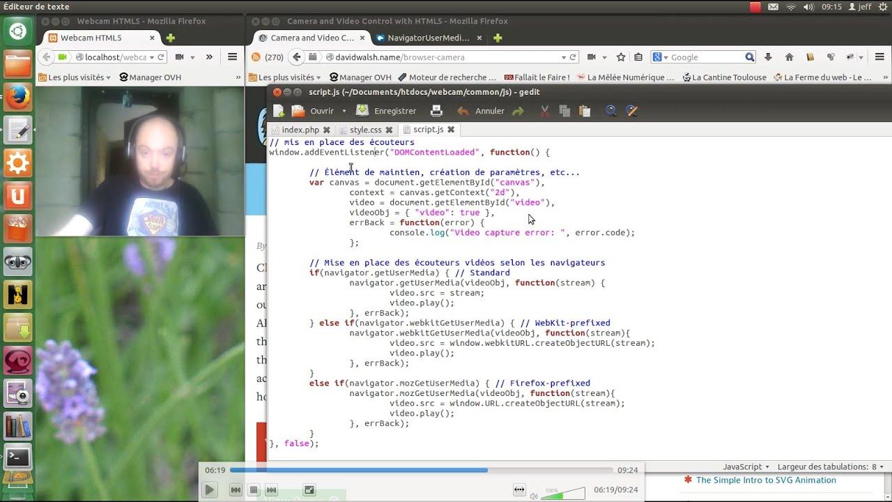 Utiliser sa Webcam avec HTML5 et getUserMedia()