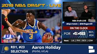 Indiana Pacers Select Aaron Holiday From UCLA With Pick #23 In 1st Round Of 2018 NBA Draft