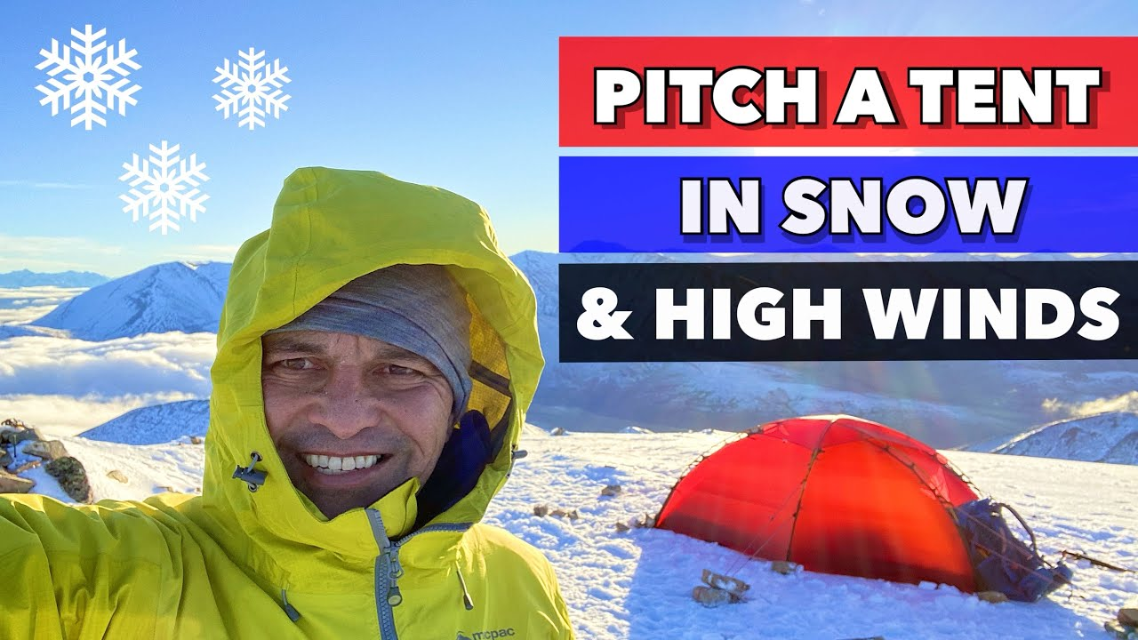 Download How to PITCH A TENT IN DEEP SNOW AND HIGH WINDS