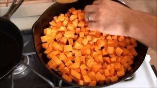 Cast Iron Skillet Fried Sweet Potato Snack