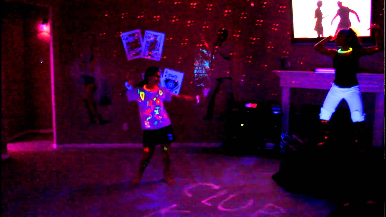 UV BlackLight House Teen Birthday Party PreView YouTube