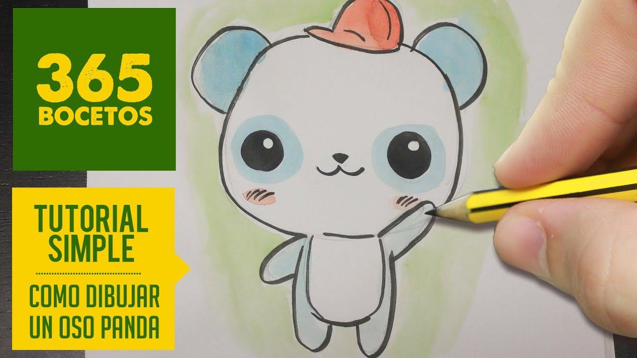 Dibujos Mas Fasiles Para Dibujar: COMO DIBUJAR UN PANDA KAWAII PASO A PASO