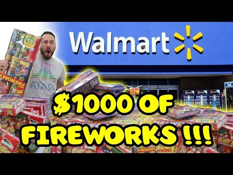 BUYING $1000 WORTH OF lLLEGAL FIREWORKS AT WALMART & TENT FIREWORKS