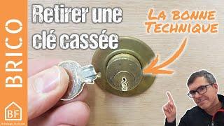 Conseil Bricolage : Comment extraire une clé cassée dans une serrure ?