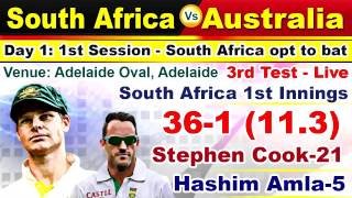 Australia vs South Africa, 3rd Test - Live Cricket Score, Commentary