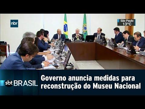 Governo anuncia medidas para reconstrução do Museu Nacional do Rio | SBT Brasil (04/09/18)