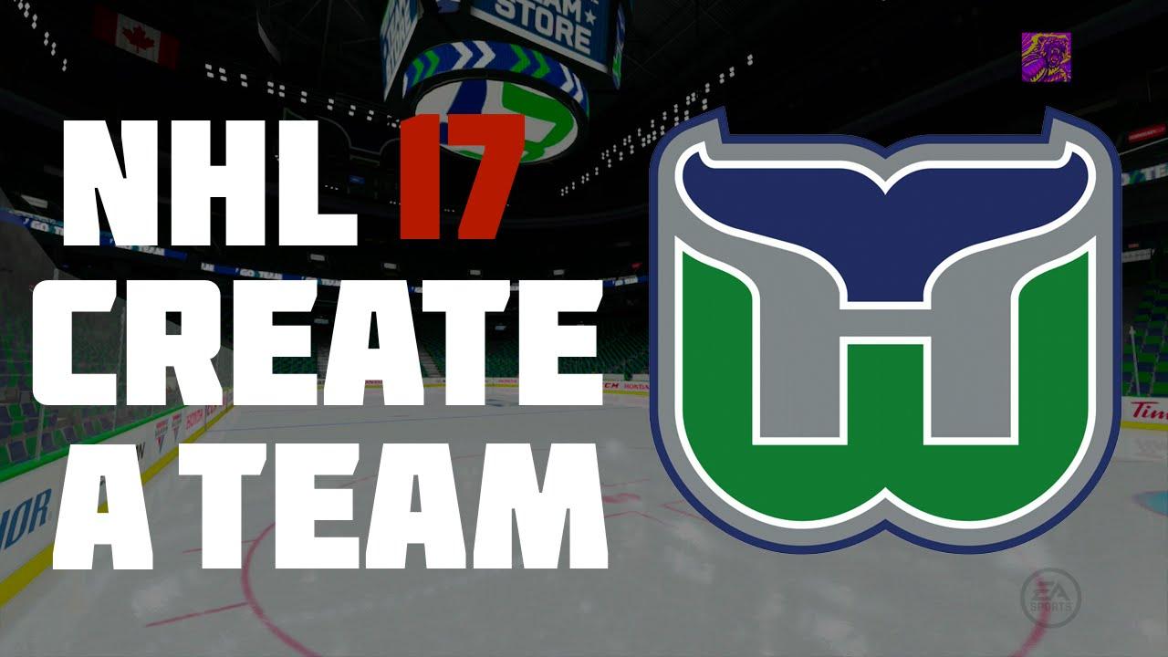 53692e3a NHL 17 Create A Team: Hartford Whalers - YouTube