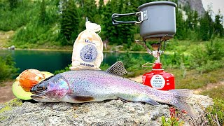 ULTRA REMOTE Trout Catch & Cook!!! ALPINE Mountain Fishing Adventure...