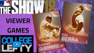 VIEWER GAMES!! IMMORTAL YOGI BERRA AND IMMORTAL VLAD GUERRERO!!  MLB THE SHOW 18