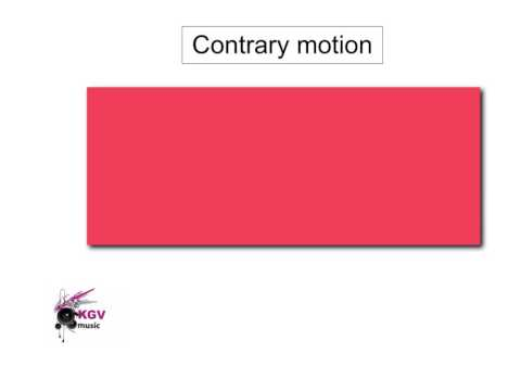 KGV College AS Music Terms 24 Contrary Motion