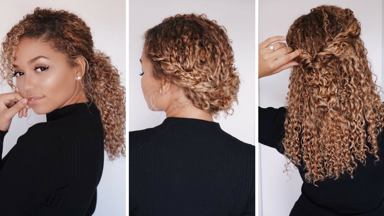 3 Super Easy Hairstyles For 3b 3c Curly Hair Bella Kurls Extensions Ashley Bloomfield