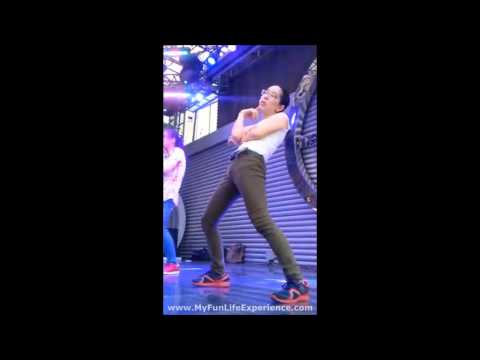 Weird Crazy Girl Dancing To PSY