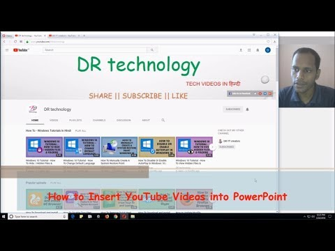 How to Insert YouTube Videos into PowerPoint 2016   Add YouTube Videos in PowerPoint - Hindi