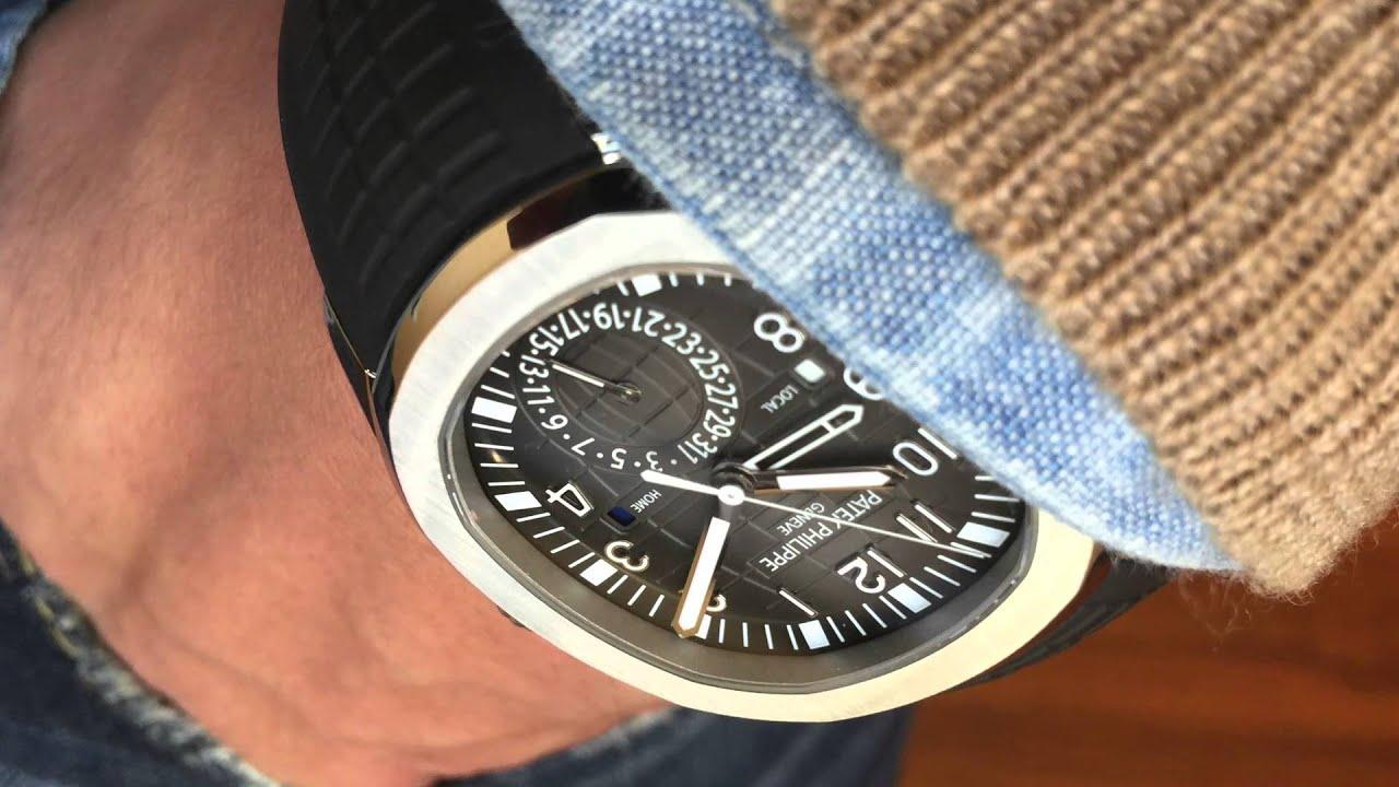 Davidsw On Today S Wrist Patek Philippe Aquanaut Travel Time