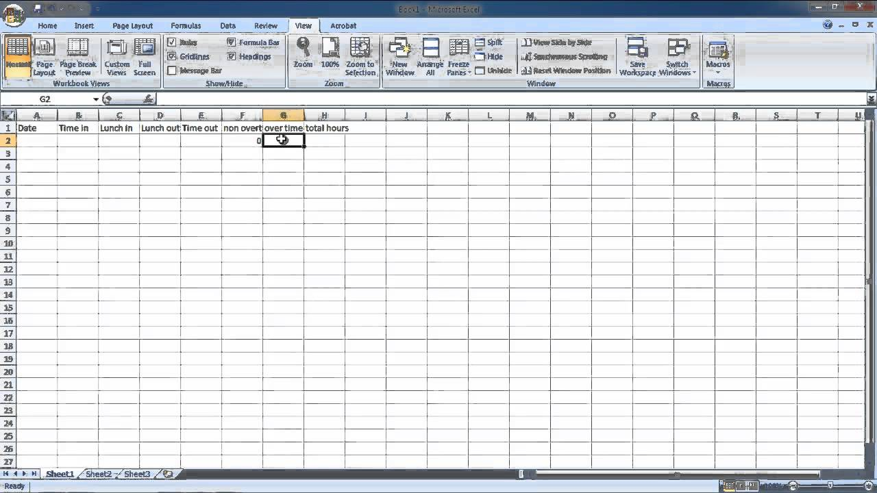 How to Make Hourly Work Time Sheet - YouTube