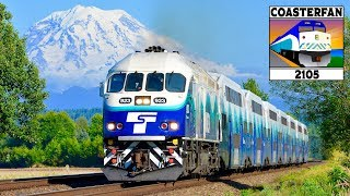 Sound transit operates two commuter rail lines out of seattle. let's take a look at sounder trains as they run through the suburbs seattle along ...