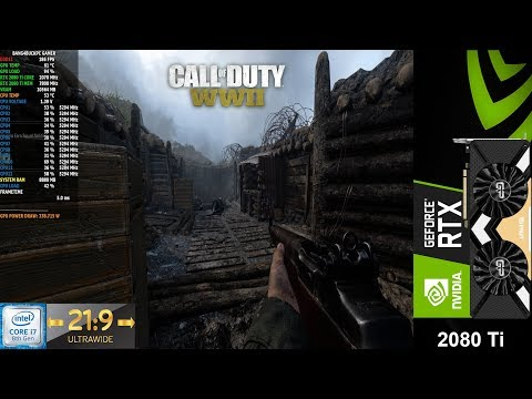 Call Of Duty WWII Extra Quality Settings 3440x1440 21:9 | RTX 2080 Ti | i7 8700K 5.3GHz