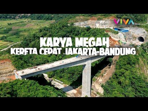Jembatan Tertinggi Dan Tunnel Terpanjang Kereta Cepat Jakarta-Bandung
