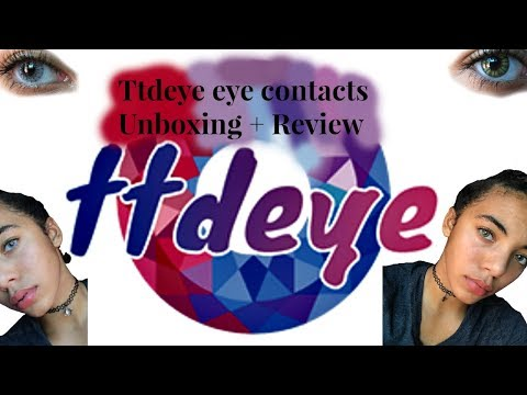 Ttdeye Eye Contacts Unboxing + Review